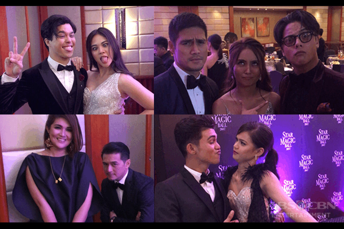 Stars being candidly cute at the Star Magic Ball 2017