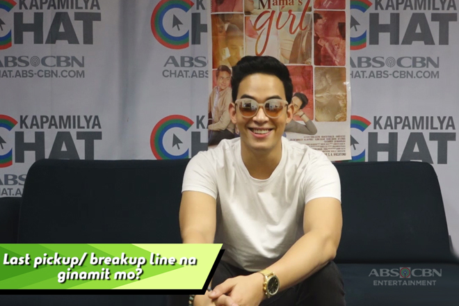 Diego Loyzaga in Kapamilya Chat's Last Thing Challenge