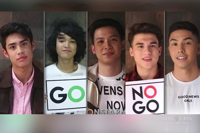 Star Magic Circle 2018 Boys take on the Go or No Go Challenge