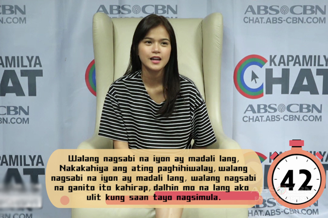 One Minute Translation Challenge with Maris Racal