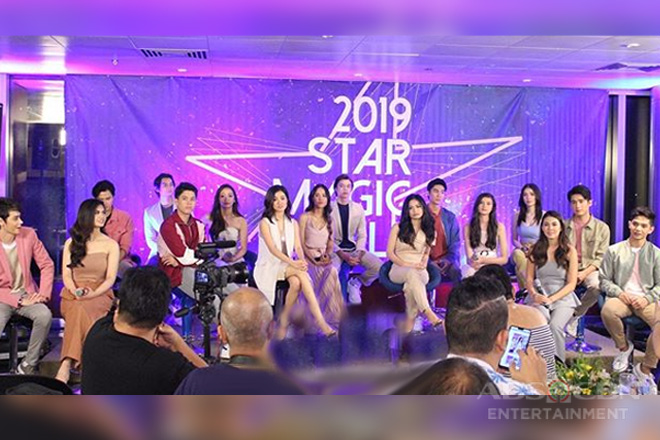 "Star Magic's ""reveal day"" of 16 promising new talents"