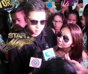 KathNiel back in Manila