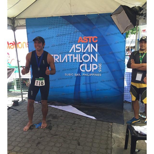 PHOTOS: Gerald Anderson, sumabak sa kanyang kauna-unahang triathlon