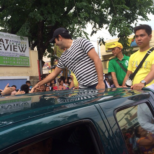 Gerald, JC and Jason joined the Baliuag fiesta