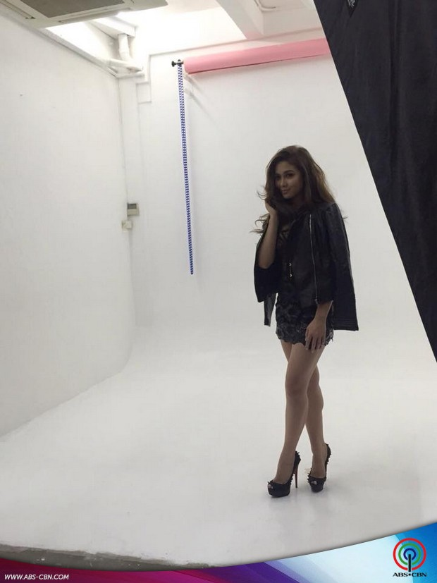 Fierce and sexy bts photos from Maja's 2nd album pictorial