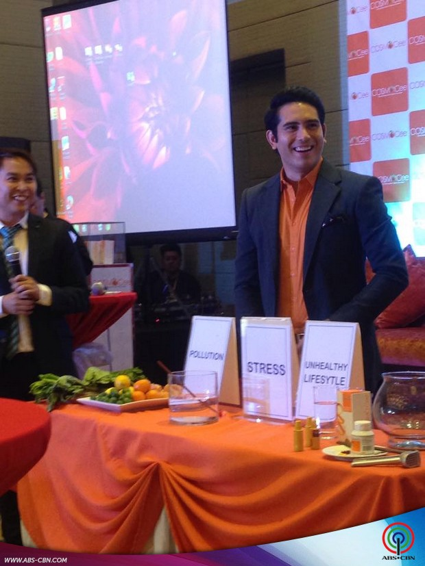 Gerald, looking fresh at his new endorsement launch