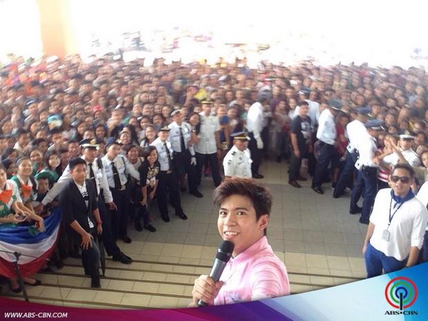 Nash at the Kabataan Pinoy Flag Raising Ceremony