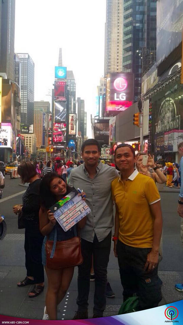 BEHIND-THE-SCENES: Sam Milby shoots in New York for his upcoming movie The Prenup