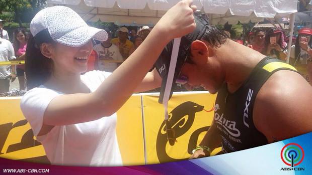 Matteo and Piolo at the Iron Man Triathlon