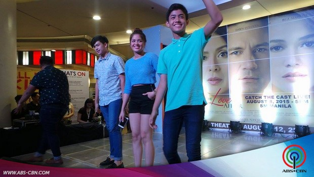 Bea, Jane, Manolo and Grae at The Love Affair mall show