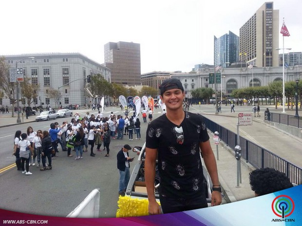 Matteo attends the TFC Parade with his fellow kapamilyas