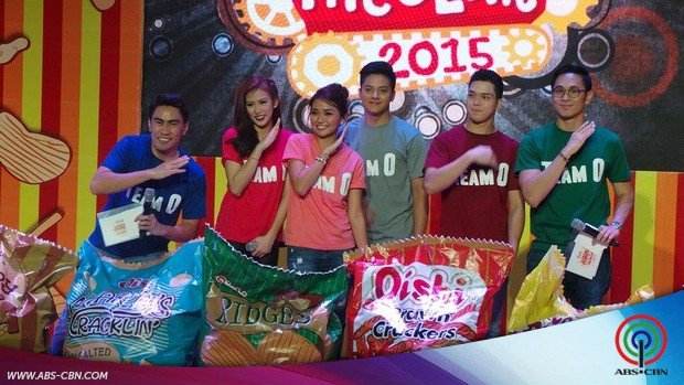 Daniel, Kathryn, Alex and Slater at the Oishi Snacktacular 2015