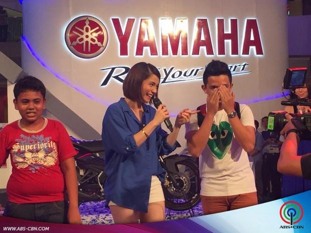 Robi Domingo and Jessy Mendiola at the Yamaha International Motor Show 2015