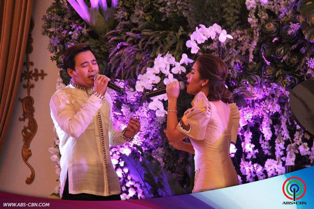 Matteo Guidicelli, Erik Santos and Angeline Quinto at the APEC Launch 2015