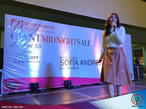 Meet and Greet Sofia Andres at Robinsons Dumaguete