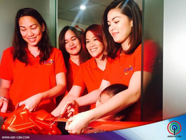 Big Smile from Shaina Magdayao as she opens her new business