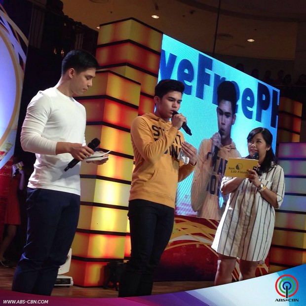 Freedom concert in Davao with Piolo and Inigo Pascual