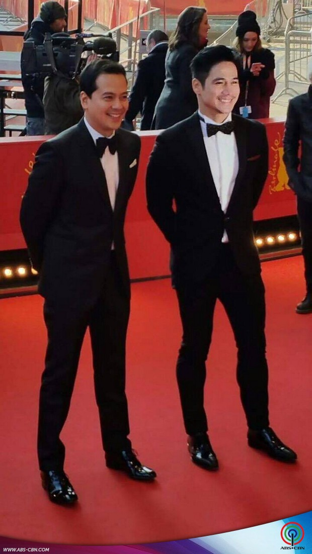 Hele stars Piolo and John Lloyd at the red carpet of the Berlinale (Berlin Film Festival)
