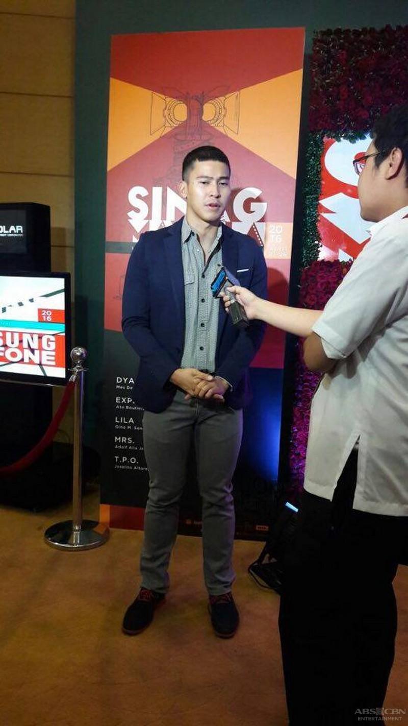 Enchong Dee at the Sinag Maynila Awards Night