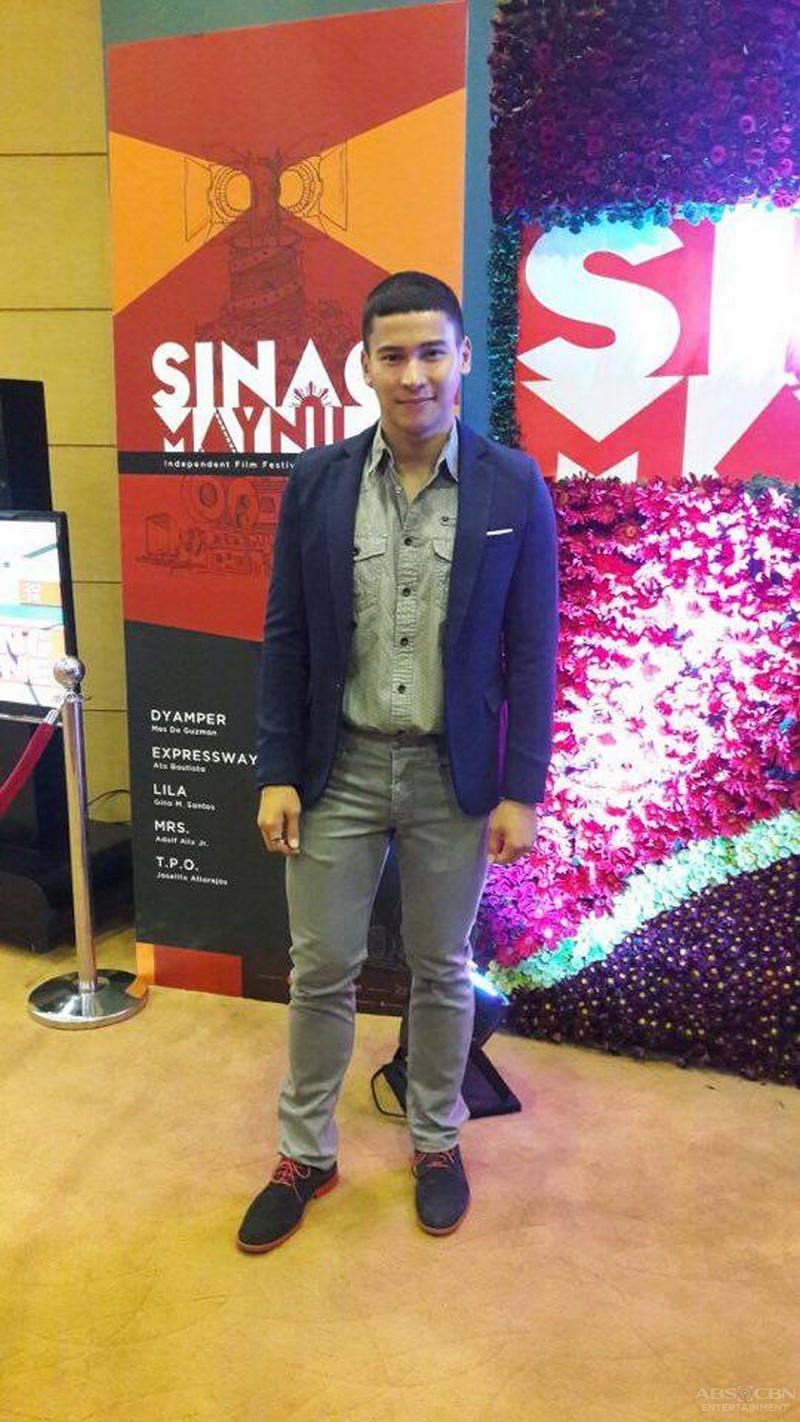 Enchong Dee at the Sinag Maynila Awards Night