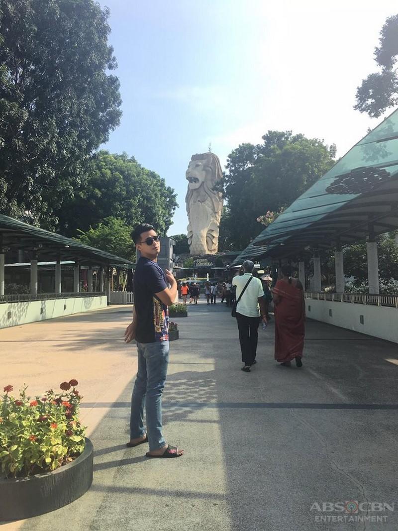 Marlo Mortel in Singapore