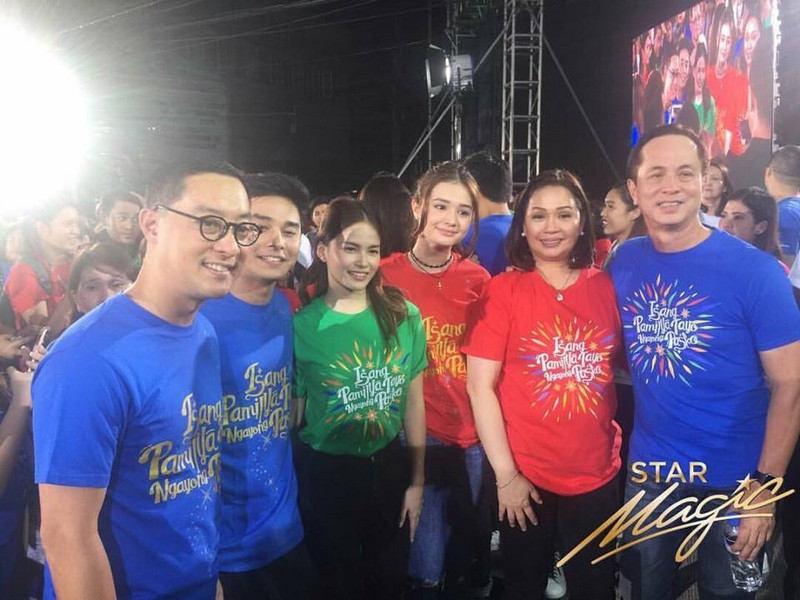Star Magic artists at the 'Isang Pamilya Tayo' Christmas Station ID launch