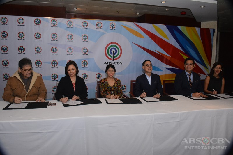 PHOTOS: Melai Cantiveros' contract signing with ABS-CBN