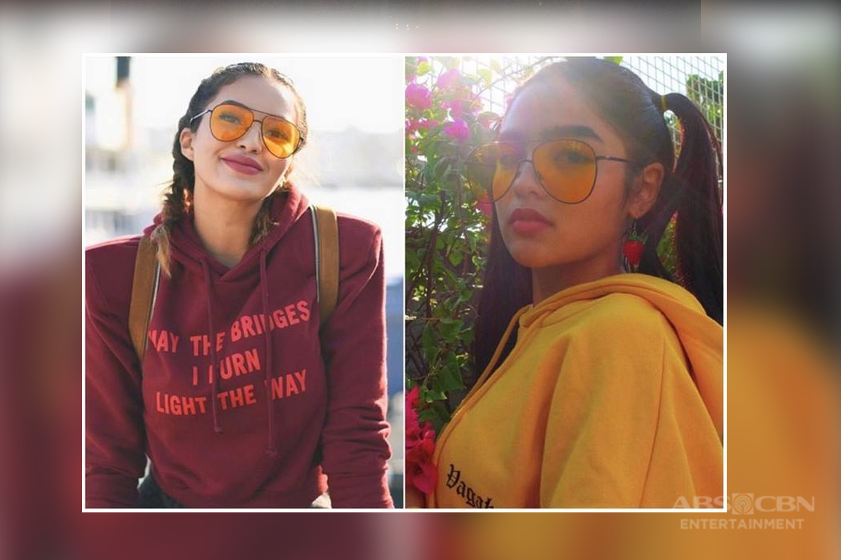 Seeing double? Here are Andrea's photos that show she can be Sarah Lahbati's long lost twin!
