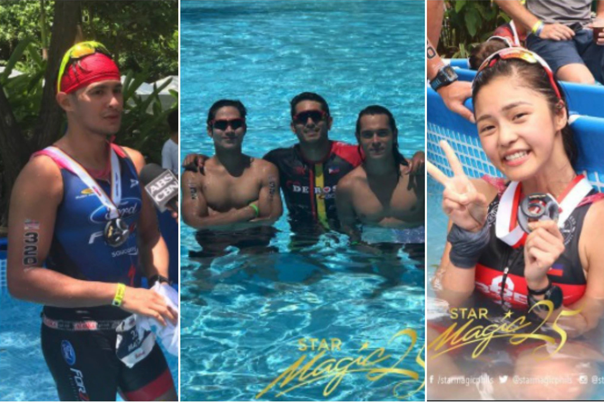 IN PHOTOS: Star Magic artists who participated in IronMan 70.3 Traithlon