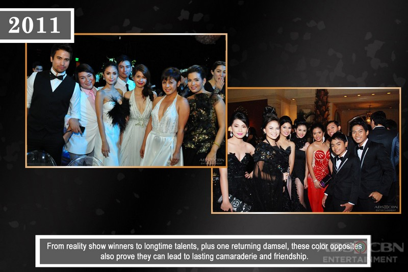 Black and white stand out among Star Magic Ball outfits through the years