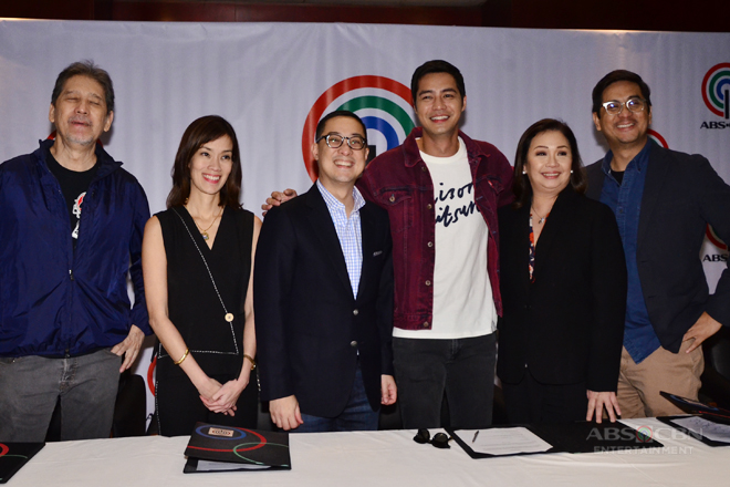 PHOTOS: Zanjoe Marudo signs a two-year exclusive contract with ABS-CBN