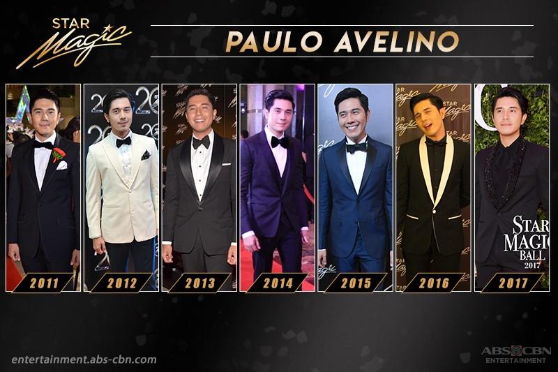 Paulo Avelino's swoon-worthy looks in the Star Magic Ball through the years