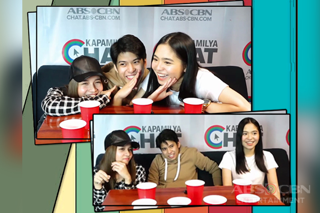 Nash, Sharlene, Kristel take on the Drinking Challenge