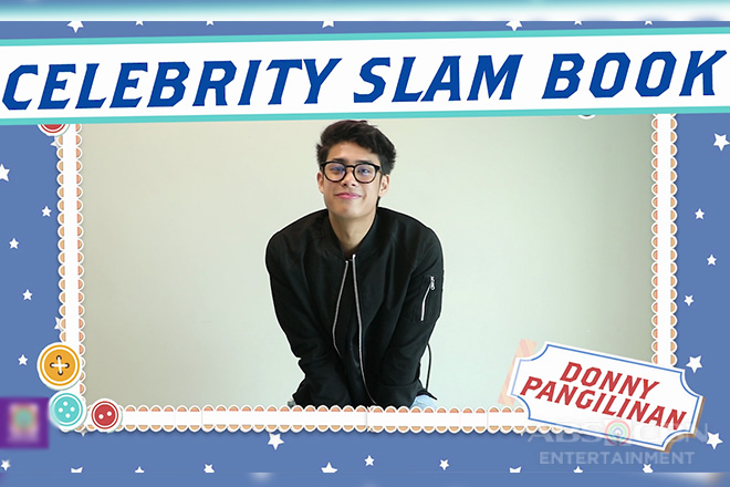 Donny Pangilinan on Celebrity Slam Book